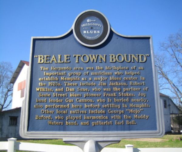 Beale Town Bound Mississippi Blues Trail Marker