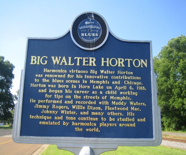Big Walter Horton Mississippi Blues Trail Marker